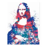 Mona Lisa splach Postcard