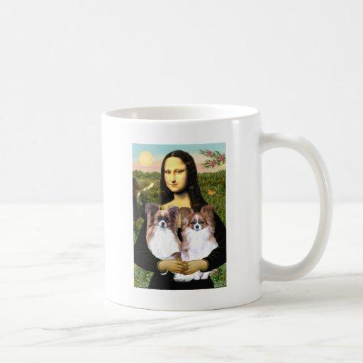 Mona Lisa - two Papillons Mugs