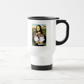Mona Lisa - two Papillons Stainless Steel Travel Mug