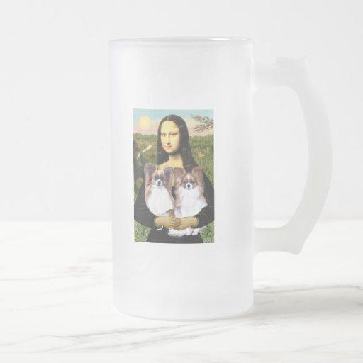 Mona Lisa - two Papillons Mug