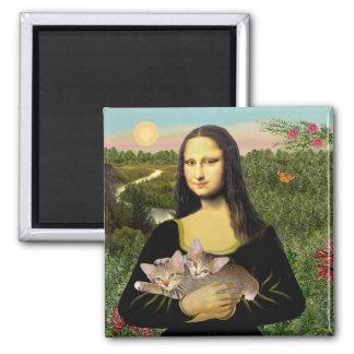 Mona Lisa - Two Tabby Kittens Magnet