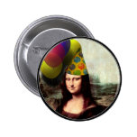 Mona Lisa Wearing Party Hat