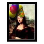 Mona Lisa Wearing Party Hat (Add Your Text) Postcards