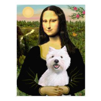 Mona Lisa - Westie 2 Postcard