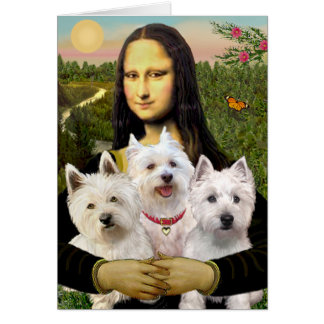 Mona Lisa - Westies (three) Card