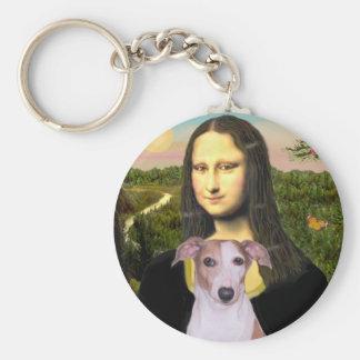Mona Lisa - Whippet (#7 light red) Key Ring