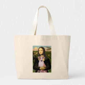 Mona Lisa - Whippet (#7 light red) Canvas Bag