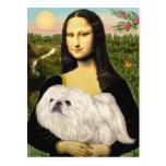 Mona Lisa - White Pekingese (#4) Postcard