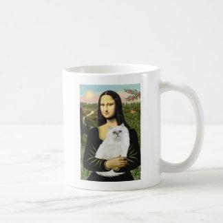 Mona Lisa - White Persian Cat 13 Coffee Mug