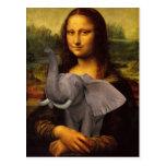 Mona Lisa With Elephant
