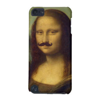 Mona Lisa with Funny Mustache Painting Pattern iPod Touch (5th Generation) Covers