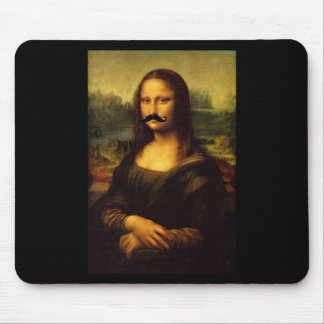 Mona Lisa With Mustache Mouse Pad