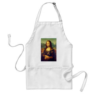 Mona Lisa With Puzzle Ribbon Standard Apron