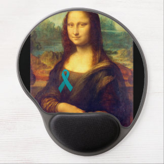 Mona Lisa With Teal Ribbon Gel Mouse Mat