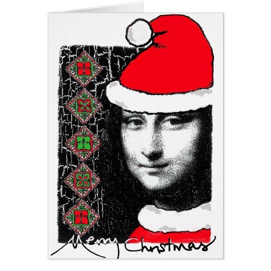 Mona Lisa Xmas-Greeting Card