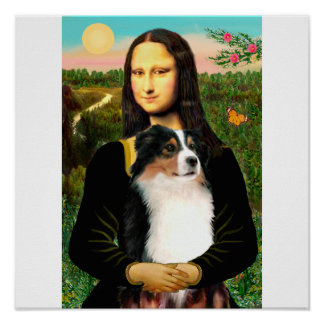 Mona Lisa's Australian Shepherd (Tri) Posters