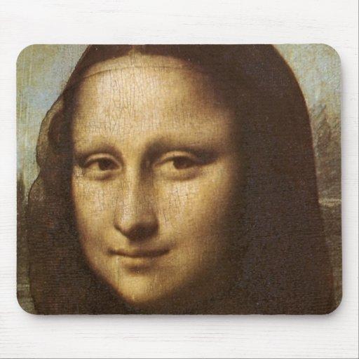 Mona Lisa's Face by Leonardo da Vinci c. 1505-1513 Mousepads