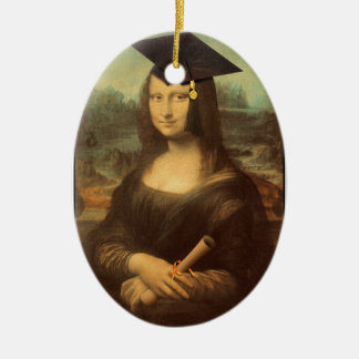 Mona Lisa's Graduation Day Ceramic Oval Decoration
