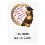 Mona Lisa's Graduation Day Photo Frame Custom Invites