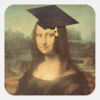 Mona Lisa's Graduation Day Square Sticker