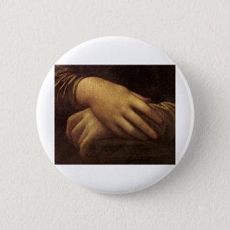 Mona Lisa's Hand by Leonardo da Vinci c. 1505-1513 6 Cm Round Badge