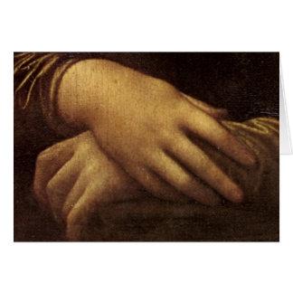 Mona Lisa's Hand by Leonardo da Vinci c. 1505-1513 Greeting Card