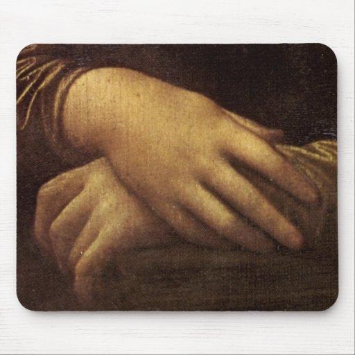 Mona Lisa's Hand by Leonardo da Vinci c. 1505-1513 Mousepads