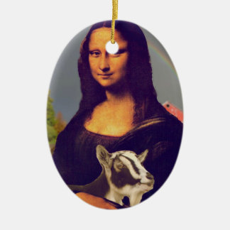 MONA LISA'S PET GOAT CHRISTMAS ORNAMENT