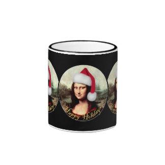 Mona Lisa's Santa Hat Mugs