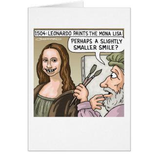 Mona Lisa's Smile Greeting Card