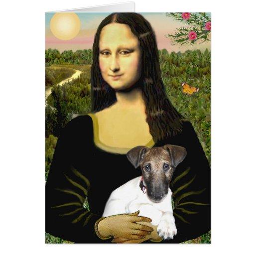 Mona Llisa - Fox Terrier Pup Greeting Cards