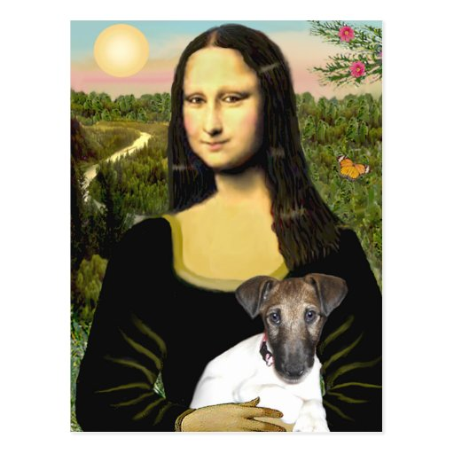 Mona Llisa - Fox Terrier Pup Post Cards