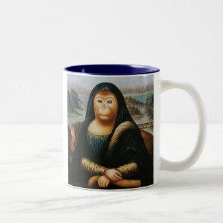 mona monkey Two-Tone mug