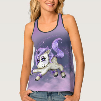 MONA UNICORN LOVE 2AllOver Print Racerback TankTop Tank Top
