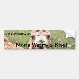 Mona Wants a Kiss! Bumper Sticker