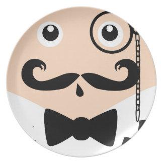 Monacle man plate