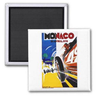 Monaco 1931 Grand Prix - Vintage Race Poster Square Magnet