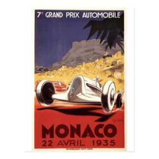 Monaco 1935 Grand Prix poster design Postcards