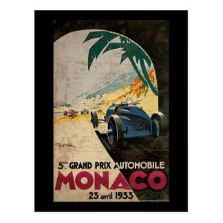 Monaco 5th Grand Prix Automobile 1933 2 Postcard