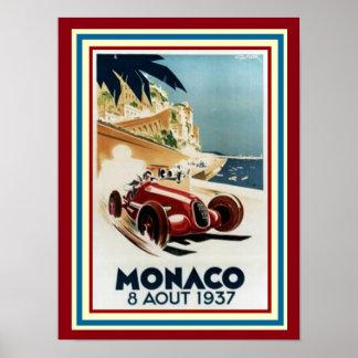 Monaco 8 Aout 1937 Poster 12 x 16
