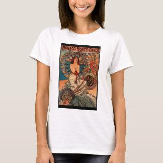Monaco Art Nouveau Vintage Poster T-shirt