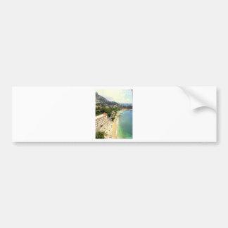 Monaco Beach Car Bumper Sticker