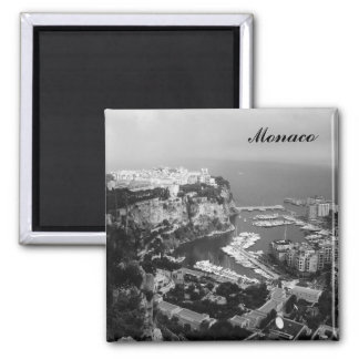 Monaco Black and White Fridge Magnet