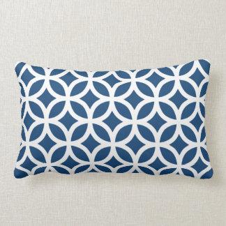 Monaco Blue Geometric Pillows