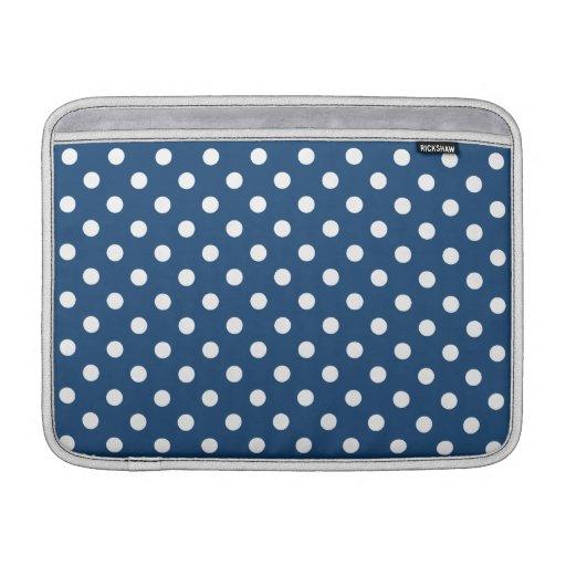 Monaco Blue Polka Dot Pattern Sleeve For MacBook Air