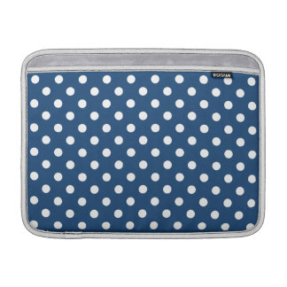 Monaco Blue Polka Dot Pattern MacBook Air Sleeves