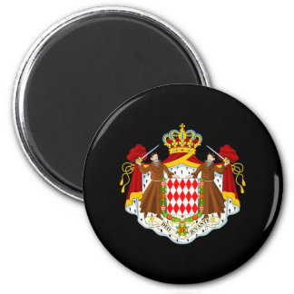 Monaco Coat of Arms 6 Cm Round Magnet