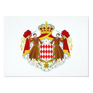 Monaco Coat of Arms Card