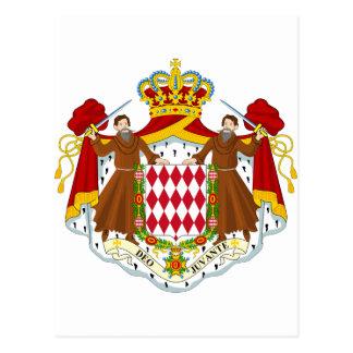 Monaco Coat of Arms Postcard