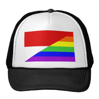 monaco country gay rainbow flag homosexual trucker hat